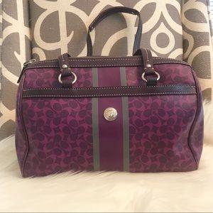 Coach Handbag Purple Leather